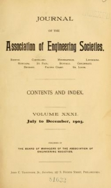 """Cover of """"Journal of the Association of Engineering Societies"""""""