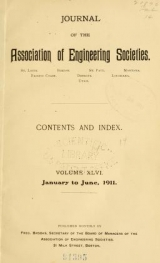 Cover of Journal of the Association of Engineering Societies