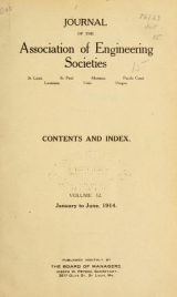 "Cover of ""Journal of the Association of Engineering Societies"""