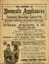 """Cover of """"Journal of domestic appliances"""""""
