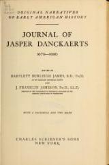 Cover of Journal of Jasper Danckaerts, 1679-1680