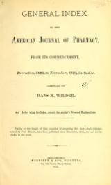 Cover of Journal of the Philadelphia College of Pharmacy