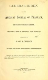 Cover of Journal of the Philadelphia College of Pharmacy