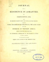 Cover of Journal of a residence in Ashantee
