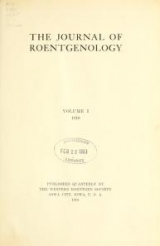 Cover of The Journal of roentgenology v.1 (1918)