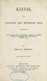 Cover of Kansas; its interior and exterior life