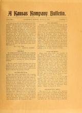 Cover of A Kansas kompany bulletin