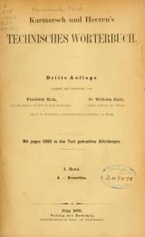 Cover of: Karmarsch und Heeren's Technisches Wörterbuch