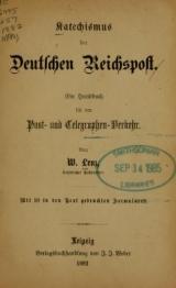Cover of Katechismus der deutschen Reichspost