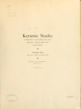 Cover of Keramic studio
