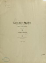 Cover of Keramic studio