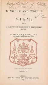 Cover of The kingdom and people of Siam v. II