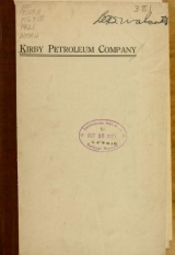 Cover of Kirby Petroleum Company