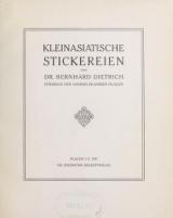 Cover of Kleinasiatische stickereien