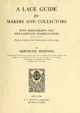 Cover of A lace guide for makers and collectors