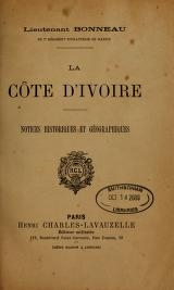 Cover of La Côte d'Ivoire
