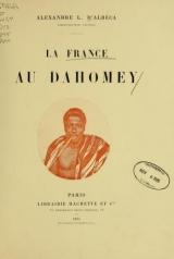Cover of La France au Dahomey