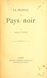 """Cover of """"La France au pays noir /"""""""