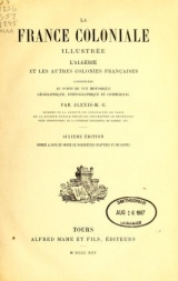 Cover of La France coloniale illustrée