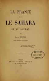 Cover of La France dans le Sahara et au Soudan