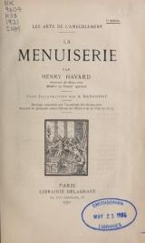 Cover of La menuiserie