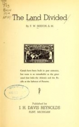 Cover of The land divided