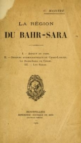 Cover of La région du Bahr-Sara