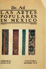 """Cover of """"Las artes populares en Mexico /"""""""