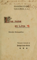 Cover of Las razas en Lima