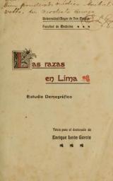 Cover of Las razas en Lima