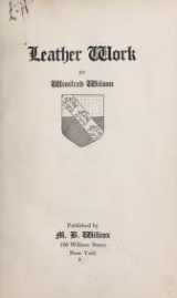 Cover of Leather work