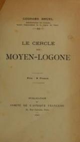 """Cover of """"Le cercle du Moyen-Logone /"""""""