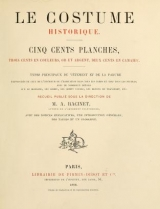 Cover of Le costume historique
