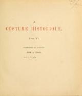 Cover of Le costume historique