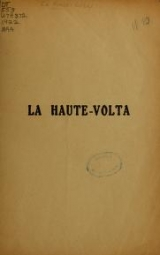 Cover of Le Haute-Volta