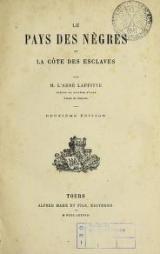 Cover of Le pays des nègres et la Côte des esclaves