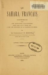 Cover of Le Sahara français