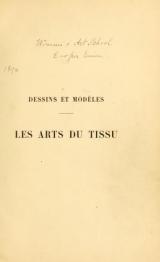 "Cover of ""Les arts du tissu"""