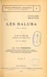 "Cover of ""Les Baluba (Congo Belge)"""