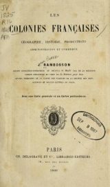 Cover of Les colonies franclaises