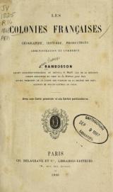 Cover of Les colonies franclaises