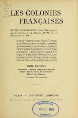 Cover of Les colonies francaises t. 1