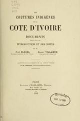 Cover of Les coutumes indigènes de la Còte d'Ivoire