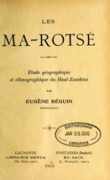 Cover of Les Ma-Rotsé