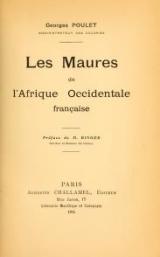 Cover of Les Maures de l'Afrique occidentale française