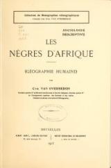 Cover of Les nègres d'Afrique