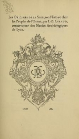 Cover of Les origines de la soie