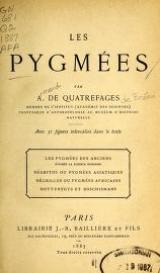 """Cover of """"Les pygmées /"""""""