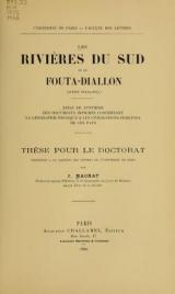 Cover of Les rivières du Sud et le Fouta-Diallon (Guinée française)