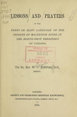 Cover of Lessons and prayers in the Tenni or Slavi language of the Indians of Mackenzie River in the North-West Territory of Canada